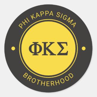 Sticker Rond Insigne du sigma | de Kappa de phi