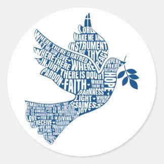 Sticker Rond Instruments de la paix (la prière de St Francis)