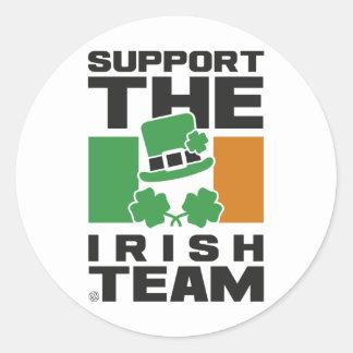 STICKER ROND IRISH TEAM