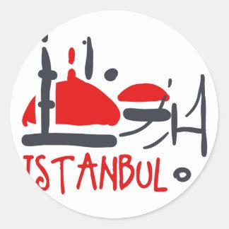 Sticker Rond Istanbul