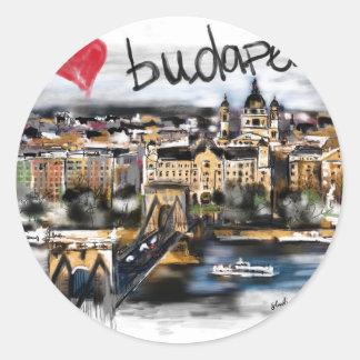 Sticker Rond J'aime Budapest