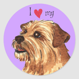 Sticker Rond J'aime la ma Norfolk Terrier