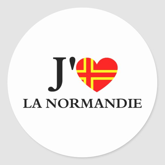 Sticker Rond J'aime la Normandie