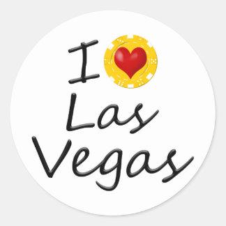 Sticker Rond J'aime Las Vegas
