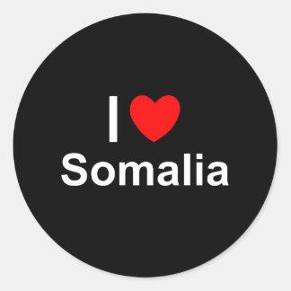 Sticker Rond J'aime le coeur Somalie