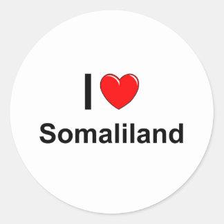 Sticker Rond J'aime le coeur Somaliland