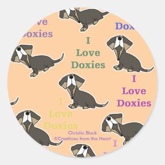 Sticker Rond J'aime le collage de Doxies