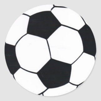 STICKER ROND J'AIME LE FOOTBALL (LE FOOTBALL)
