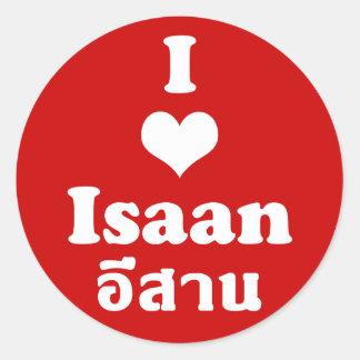 Sticker Rond J'aime le ❤ Thaïlande d'Isaan