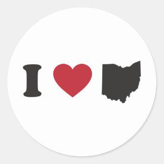 Sticker Rond J'aime l'Ohio