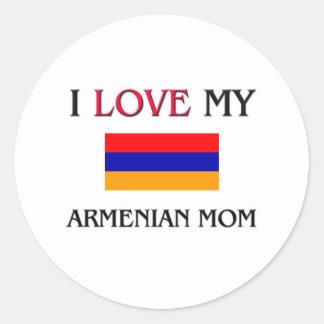 Sticker Rond J'aime ma maman arménienne
