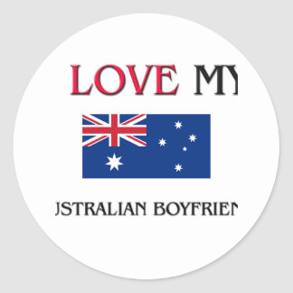 Sticker Rond J'aime mon ami australien