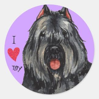 Sticker Rond J'aime mon Bouvier