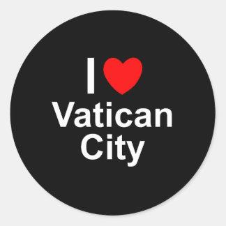 Sticker Rond J'aime Ville du Vatican de coeur