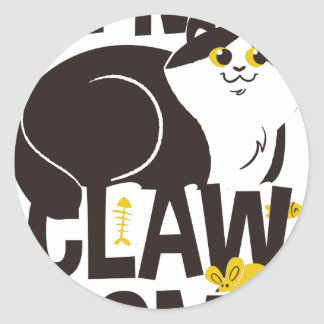 Sticker Rond Je suis chat