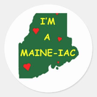Sticker Rond Je suis LE MAINE IAC