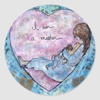 Sticker Rond Je suis mère