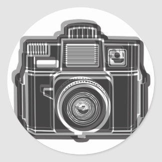 Sticker Rond Je tire toujours le noir de logo de film