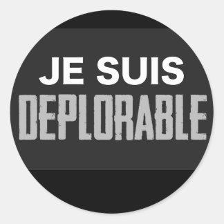 Sticker Rond JeSuisDeplorable