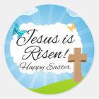 Sticker Rond Jésus est levé, Pâques chrétienne