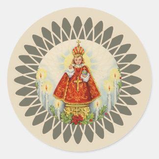 Sticker Rond Jésus infantile de Prague