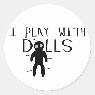 Sticker Rond Jeu avec des poupées