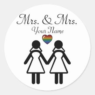Sticker Rond Jeune mariée de silhouette et jeune mariée -