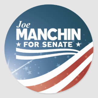 Sticker Rond Joe Manchin pour le sénat