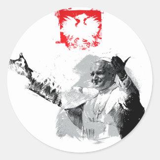 Sticker Rond John Paul le deuxième