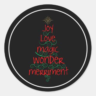 Sticker Rond Joie • Amour • Magie • Merveille • Joie