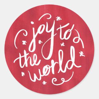 Sticker Rond Joie aux vacances de rouge du monde