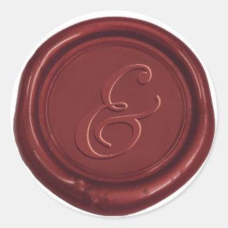 Sticker Rond Joint classique de cire d'esperluète de mariage