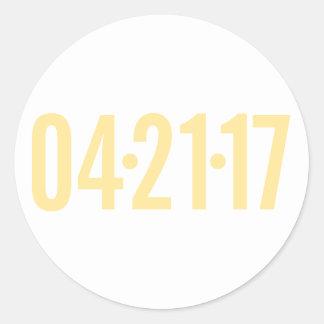 Sticker Rond Joint d'enveloppe de date