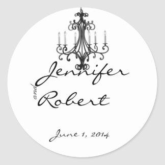 Sticker Rond Joint d'enveloppe de lustre de charme de Hollywood