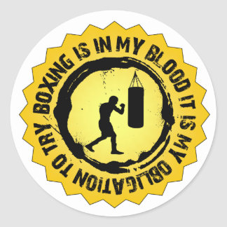 Sticker Rond Joint fantastique de boxe