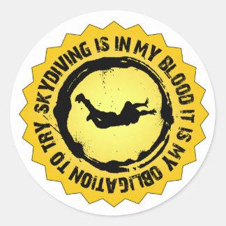 Sticker Rond Joint fantastique de parachutisme
