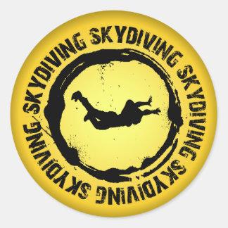 Sticker Rond Joint intéressant de parachutisme