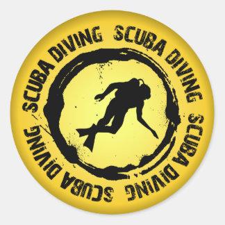 Sticker Rond Joint intéressant de plongée à l'air