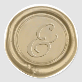 Sticker Rond Joint moderne de cire d'esperluète de mariage d'or