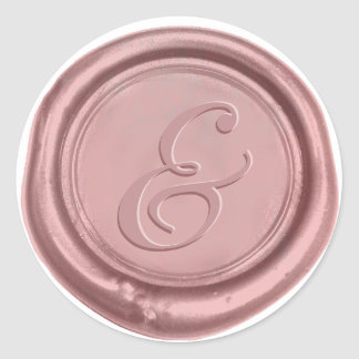 Sticker Rond Joint rose de cire d'esperluète de mariage d'or