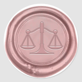 Sticker Rond Joint rose de cire d'or de cabinet juridique