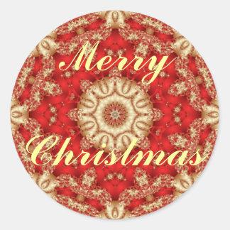 Sticker Rond Joints d'enveloppe de dentelle de Joyeux Noël