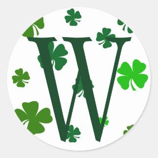 Sticker Rond Joints irlandais d'autocollants d'initiale de
