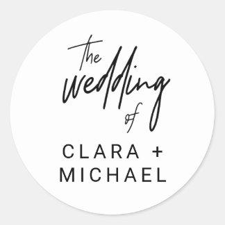 Sticker Rond Joints lunatiques d'enveloppe de mariage de