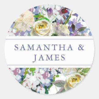 Sticker Rond Joints rustiques de faire-part de mariage de