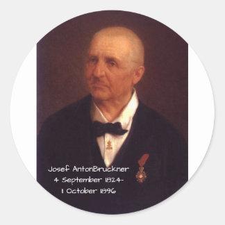 Sticker Rond Josef Anton Bruckner