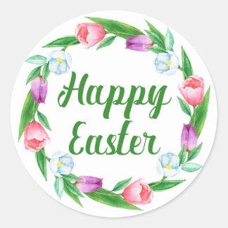 Sticker Rond Joyeuses Pâques