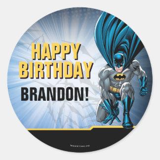 Sticker Rond Joyeux anniversaire de Batman  