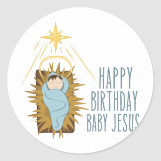 Sticker Rond Joyeux anniversaire Jésus