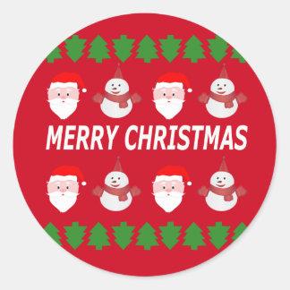 Sticker Rond Joyeux Noël